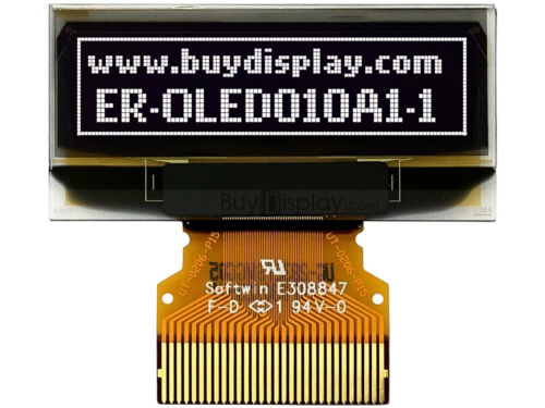 """White 1/""""Small OLED Display Module 128x32 I2C Arduino w//Connector FPC"""
