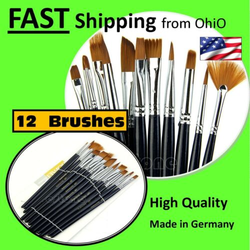 - 12 Pack - 12 Piece 12X Artist Paint Brush Set Art School Supplies - Bulk
