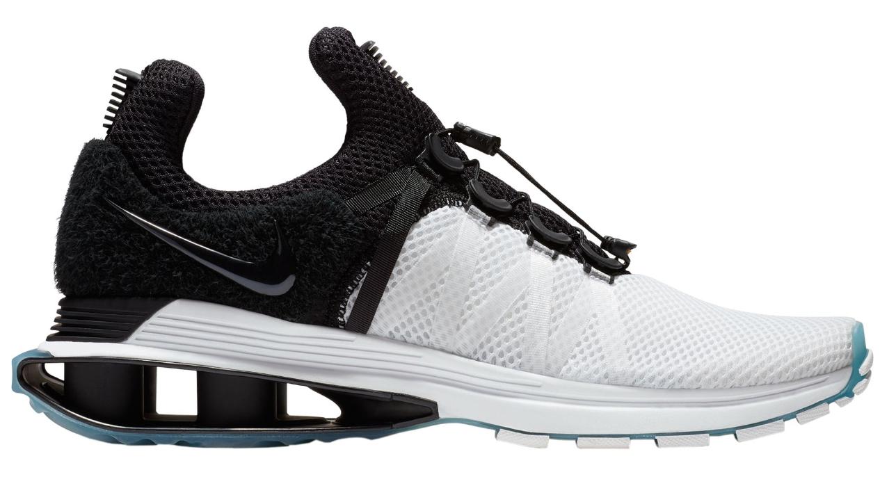 Nike shox schwere weiße schwarze rennt turnschuhe 8,5 (neu)