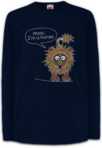 Moo-I-039-m-A-Horse-Kinder-Langarm-T-Shirt-Modern-Phil-Fun-Family-Dunphy-Lion-Symbol