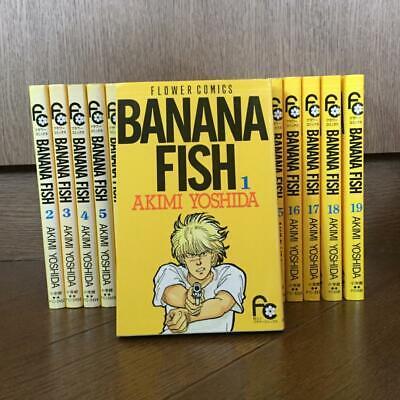 USED BANANA FISH Manga Japanese 1-19 Complete Set Akimi Yoshida