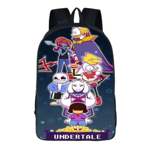 UK Cartoon Undertale Backpack Rucksack School Bag Travel Work Laptop Kids Gift