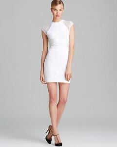 959ba6e518 NEW Torn Ronny Kobo Dress Rosalind Geo Lace White Sleeveless Small ...
