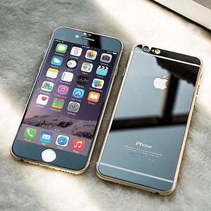 Efecto-de-Espejo-Frontal-y-Trasero-Negro-Protector-de-Pantalla-de-Vidrio-Templado-iPhone-6-6S