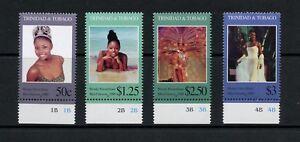 Q011-Trinidad-amp-Tobago-1999-Miss-Universe-4v-MNH