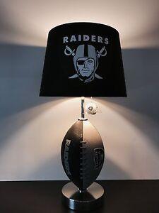 Oakland raiders football table lamp nfl lamp man cave decor ebay image is loading oakland raiders football table lamp nfl lamp man aloadofball Choice Image