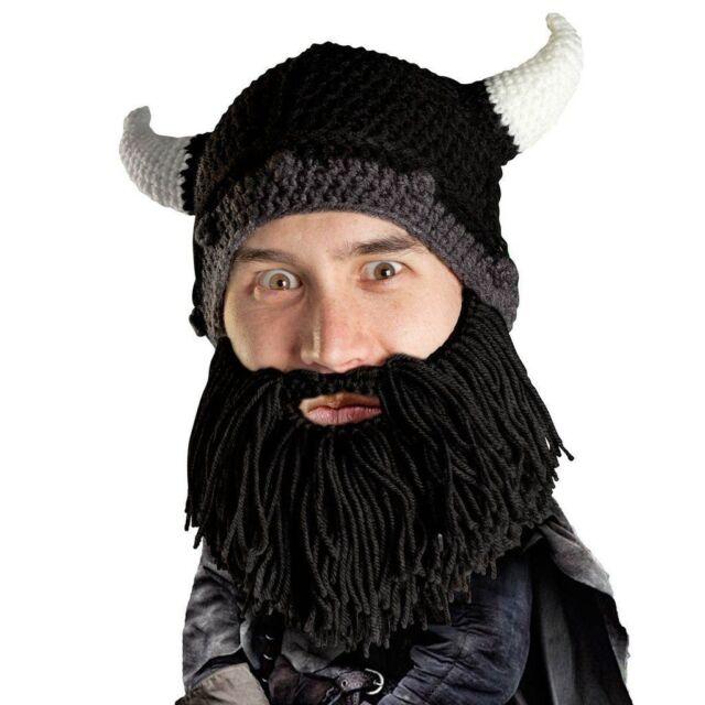 Beard Head Bartmütze Barbarian Pillager lang schwarz