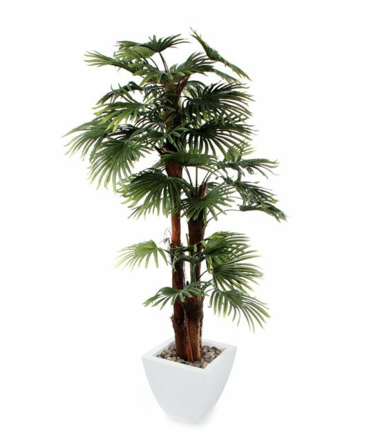 Large Artificial Palm Tree Indoor Outdoor Decor House Plant 6ft Garden New