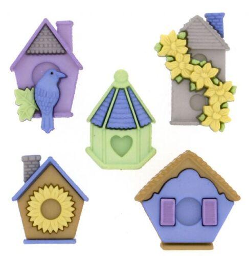 Jesse James Botones ~ vestirla ~ Plumas Nido 7695 ~ casas del pájaro ~ Sew Craft