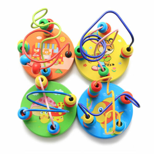Kids Toddler Children Child Baby Wooden Educational Beads Wire Maze Outdoor Toys