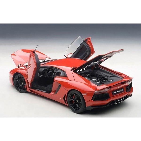 1/18 Autoart Lamborghini Aventador Lp700-4rosso Andromeda/Rosso + Kostenlose