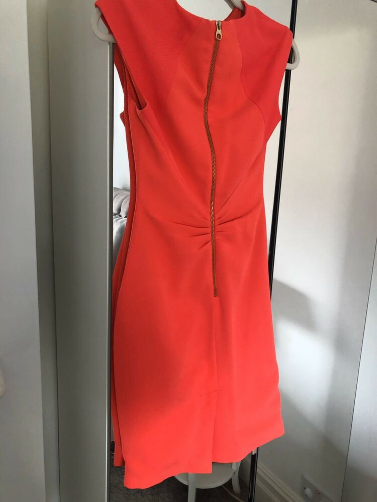 Ted Baker Dress Taille 1 Rose/corail