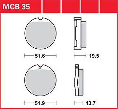 Bremsen Motorradteile Treu Kr Bremsbeläge Satz Vorne Mcb 035 Honda Cb 450 K 75' .. Brake Pads Set Front