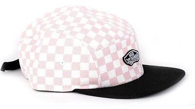 Vans Shoe Off The Wall Unisex Checkerboard 5 Panel Camper Hat Cap - Peach Skin