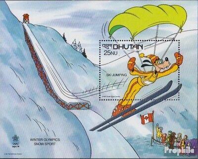 Apprehensive Bhutan Block157 (complete Issue) Unmounted Mint / Never Hinged 1988 Walt Disney