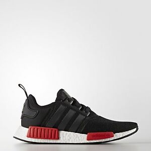 2e4189e02aef92 Adidas NMD R1 Runner Nomad Core Black Red White Bred Pack BB1969 Men ...