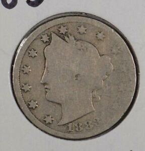 1883 With CENTS Liberty Nickel Good Condition #167903