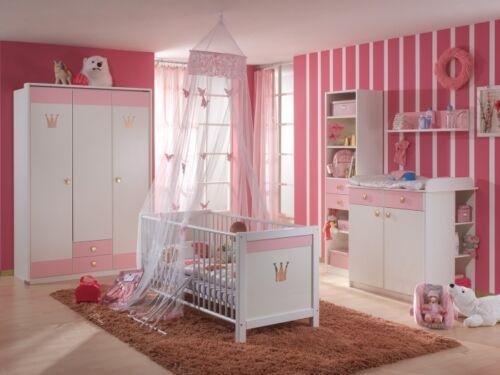 Babyzimmer Cindy 3-teilig 3trg Schrank Babybett Wickelkommode 107340