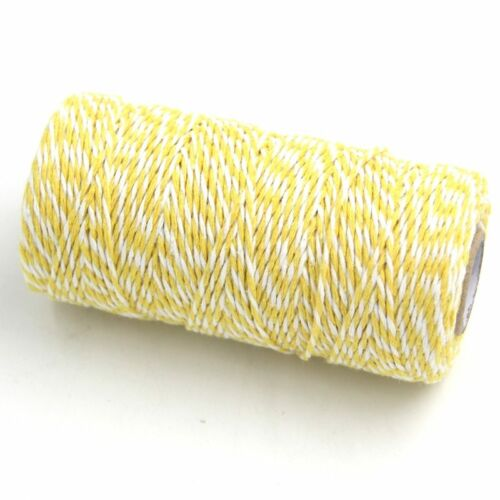 DIYHouse® 100Yard//roll DIY Cotton Bakers Twine Stripe Line For Wedding Birthday