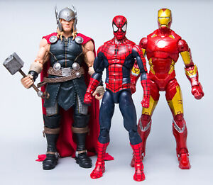12-034-Marvel-Legends-Lot-SPIDER-MAN-THOR-IRONMAN-Complete-Free-Shipping