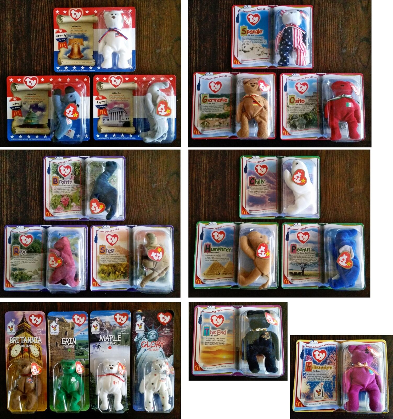 McDonald's Beanie Babies Collection (18 Total)  Multiple Complete Sealed Sets