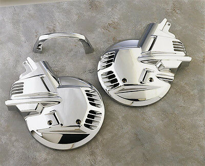 Chrome Front Rotor Cover Set by Show Chrome for 88-00 Goldwing GL1500 2-497
