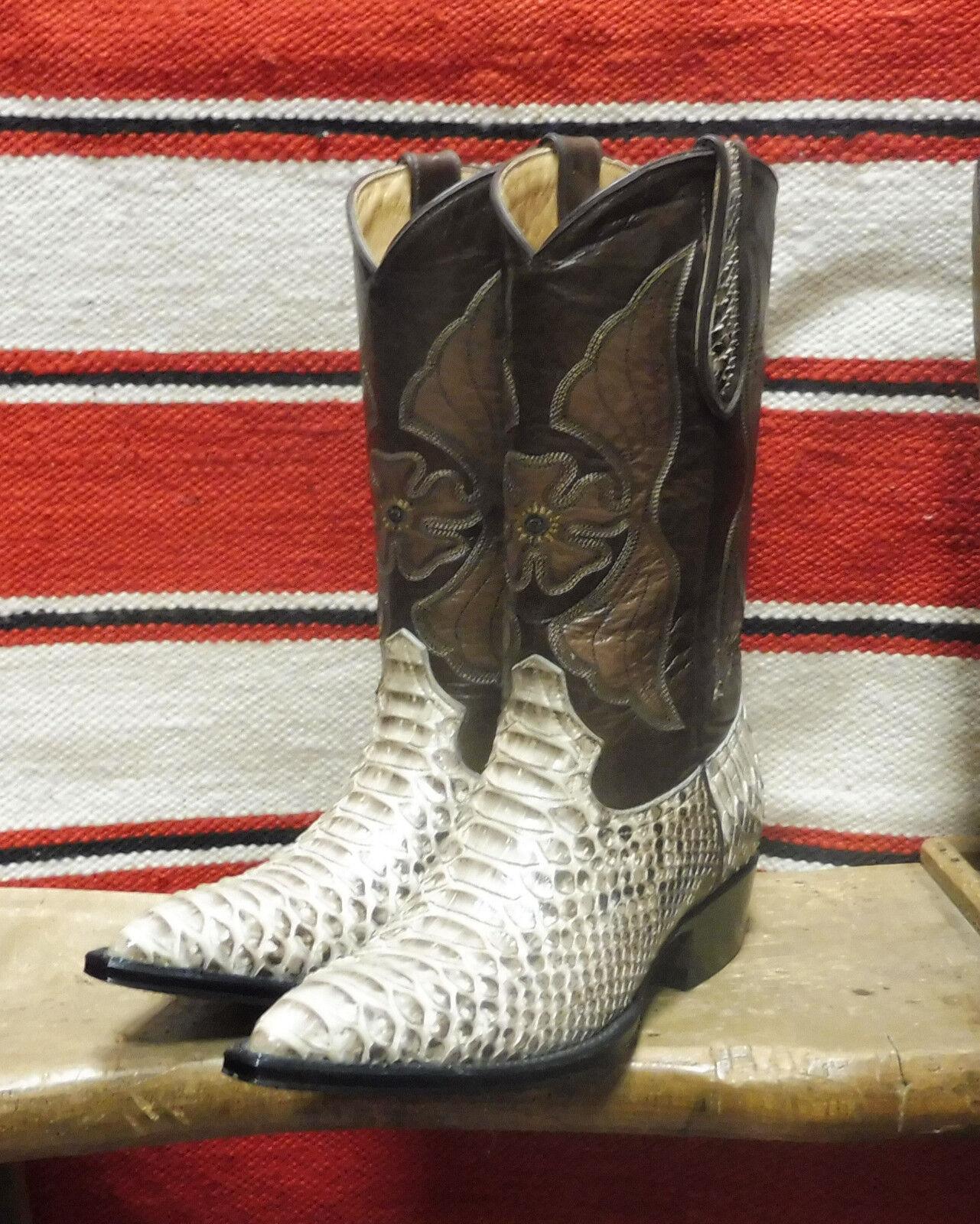 Stivali stivale texani country western cowboy donna esotico pitone serpente 38