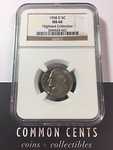 1958-D-Jefferson-Nickel-MS-66-NGC-Highland-Collection-SKU-4012