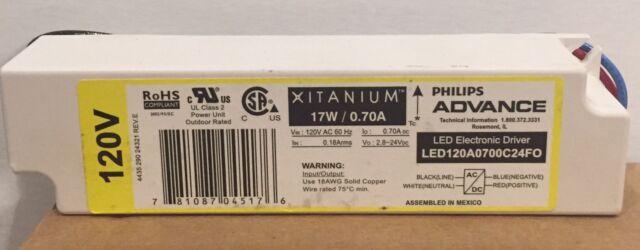 2.8-28V 20W 120V ADVANCE LED-120A-0700C-28-DO DIMMING XITANIUM LED DRIVER 0-10V