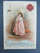1894 ARGAND STOVES Victorian Trade Card, Canfield Stove, Rondout (Kingston) NY
