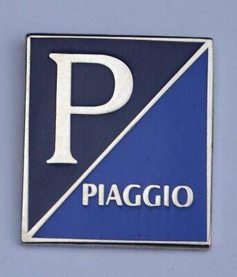 Blue Piaggio Scooter Logo Quality Enamel Pin Badge