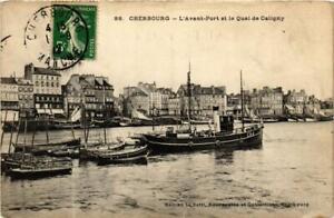 CPA AK Cherbourg - Avant Port et le Quai de Caligny SHIPS (762761)