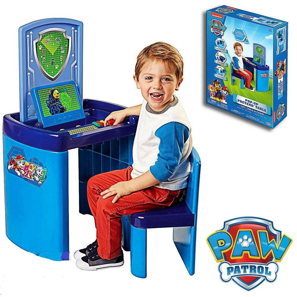 Wondrous Paw Patrol Pop Up Pretend Table Activity Set Transforms To Command Center New Creativecarmelina Interior Chair Design Creativecarmelinacom