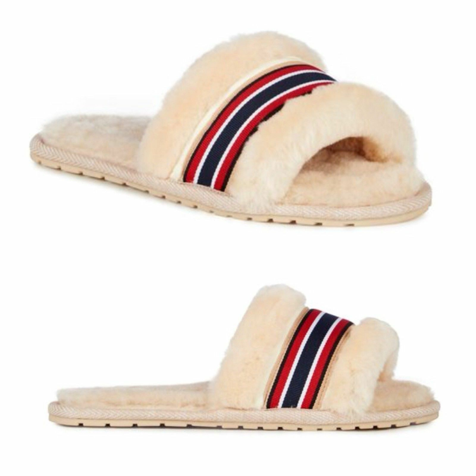 EMU Australia Wrenlette Slide Slipper Sandals  Ivory NWT women's 7