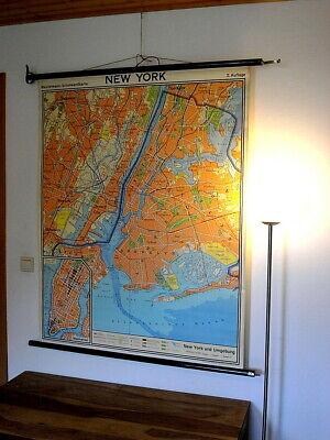 New York Wandkarte Reisebüro Empfang Theke Geschenk Globetrotter