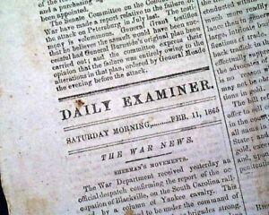 Rare-CONFEDERATE-CAPITAL-w-Robert-E-Lee-Letter-Civil-War-1865-Old-Newspaper