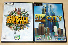 2 PC SPIELE SET - SIM CITY SOCIETIES & 3000