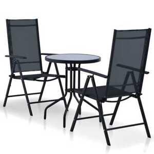 vidaXL-Outdoor-Bistro-Set-3-Piece-Aluminium-and-Textilene-Black-Balcony-Patio