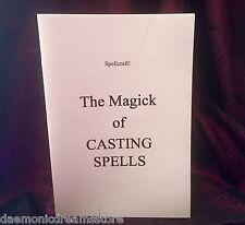 THE MAGICK OF CASTING SPELLS Finbarr Occult Magic Black White Grimoire Magick