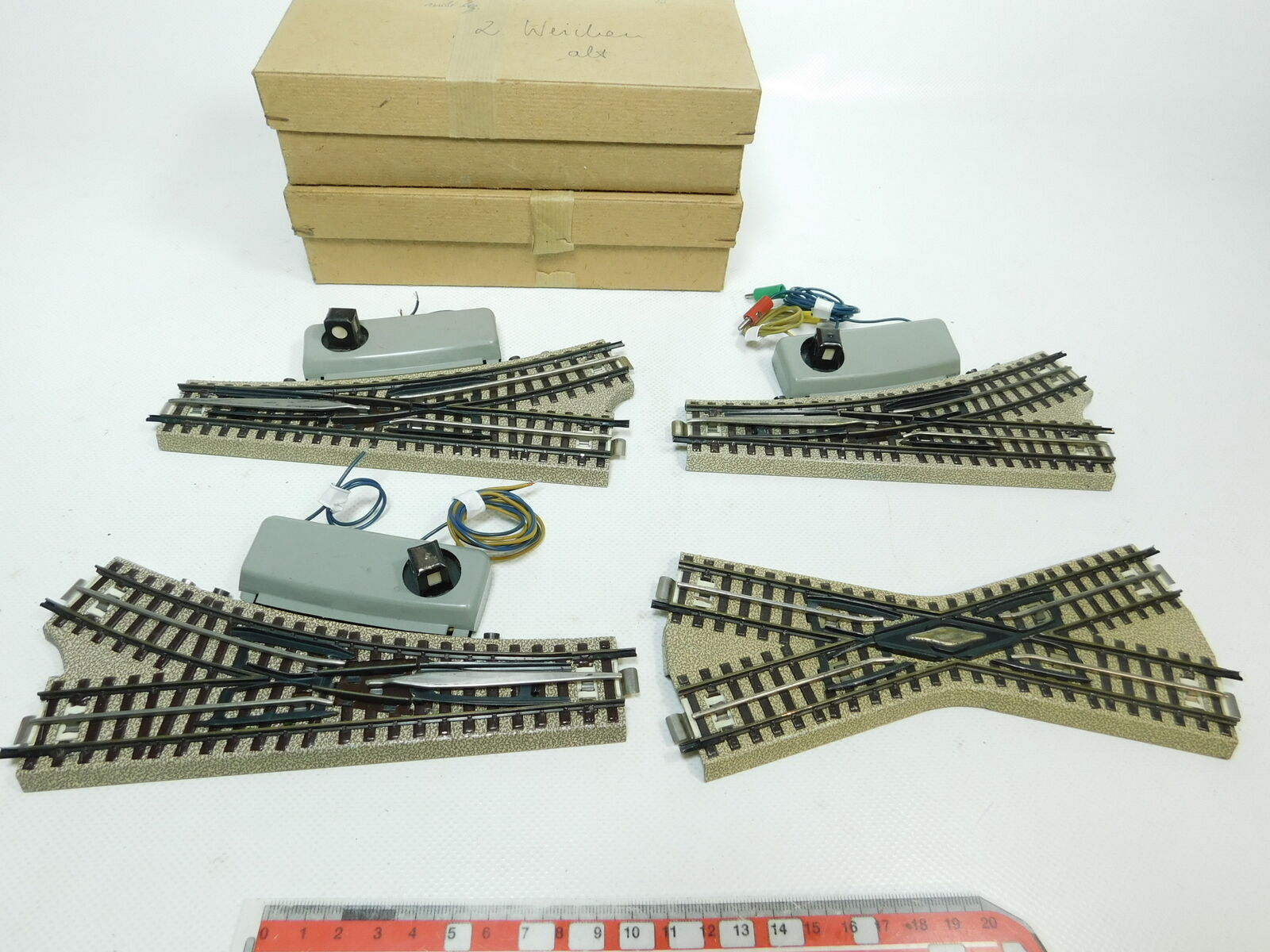 BI102-1x Märklin H0 00 AC E-Weiche Kreuzung M-Gleis für 3600 800 + 2x OVP