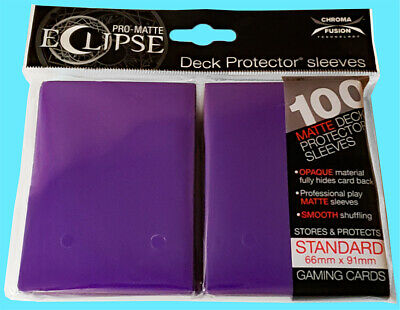 PRO-Matte Eclipse Purple Standard Deck Protector Card sleeves 100ct Ultra Pro