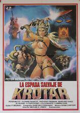 La espada salvaje de Krotar  -- Cartel de Cine Original --