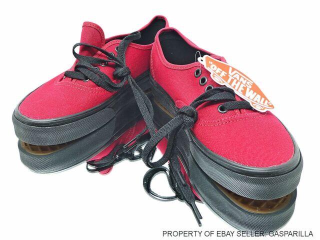 VANS Authentic Black Sole Jester Red VN0003Z3HXP Skate Shoes MensWwn Multi SZ