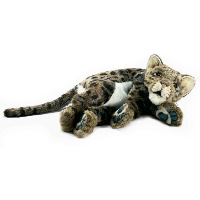 Brown Leopard Cub Hansa Realistic Soft Animal Plush Toy 40cm **FREE DELIVERY**