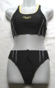 arena-Maedchen-Damen-Bikini-Tankini-Lecano-Gr-36-Black-Sunny-chlorbestaendig-24309