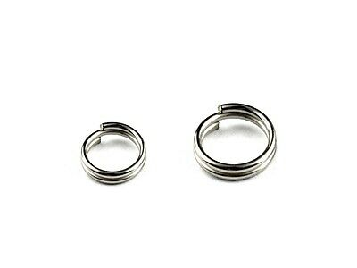 LOT 100X Stainless Steel Double Loop Split Rings For Fishing Lures & Tackle Rigs
