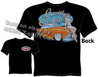 1953 Chevy T Shirt 53 Chevrolet Tee Chopped Custom Car Apparel Pin Up Girl Wear