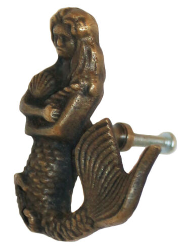 MERMAID DOOR HANDLE SOLID BRASS DRAWER  CUPBOARD PULL KNOBS  pulls knob new
