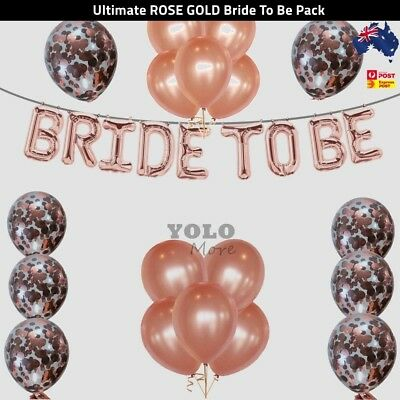 """5//10//20//50x 12/"""" Rose Gold Latex Balloons for Birthday Party Bridal Shower AUS"""