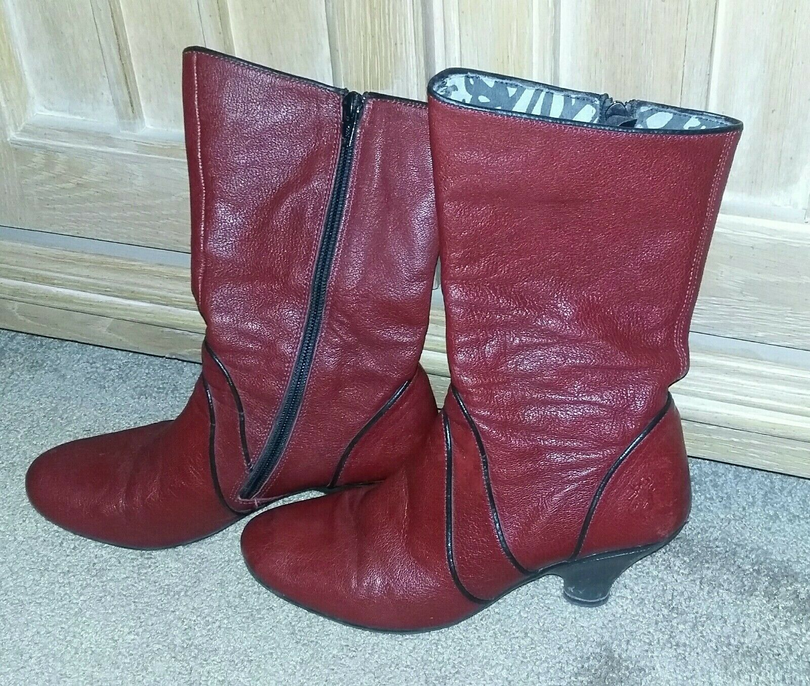 Fly London boots size 7.5 Red leather